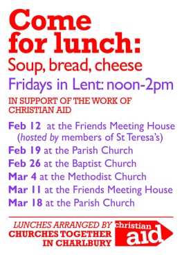 Lent lunches 2016